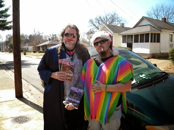 Thorne Peters (right) and Leo AwGoWhat (right) in an undated photo. - THORNE PETERS/THORNEPETERS.COM