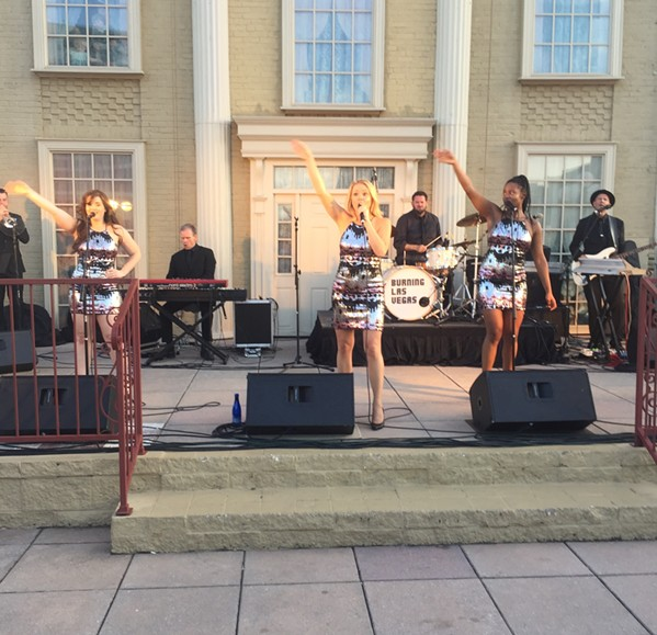 Burning Las Vegas performed at the Peabody Rooftop Party season finale. - MICHAEL DONAHUE