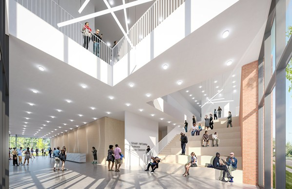 Rendering of Scheidt Family Music Center interior - ARCHIMANIA