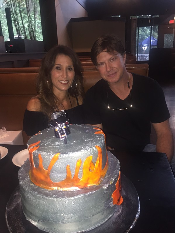 Marie Pizano and Talbott Howard at their engagement party at Mesquite Chop House in Germantown. - MICHAEL DONAHUE
