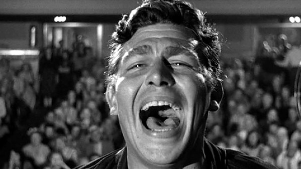 """Andy Griffith as Larry """"Lonesome"""" Rhodes in Eliza Kazan's A Face In The Crowd."""