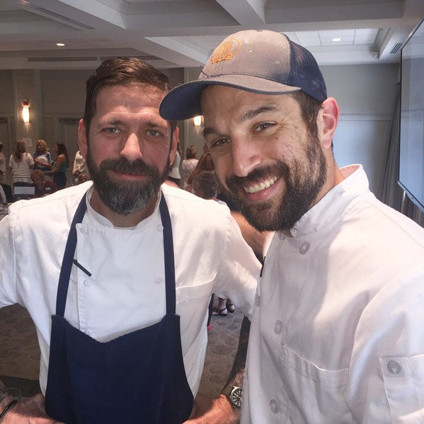 David Krog and Zach Thomason at Great Memphis Food Fight. - MICHAEL DONAHUE