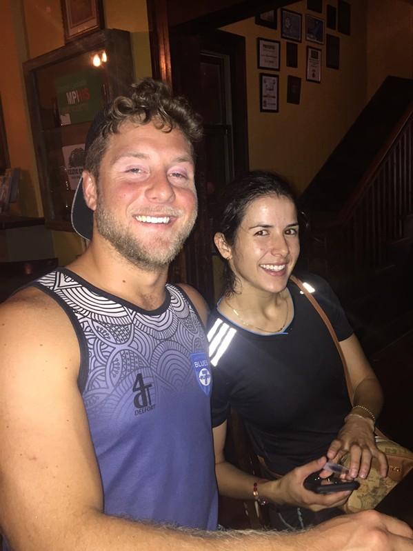 John Elmore and Natalie Vasquez at Celtic Crossing. - MICHAEL DONAHUE