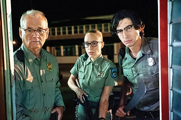 (l to r) Bill Murray, Chloë Sevigny, and Adam Driver star in Jim Jarmusch's The Dead Don't Die.