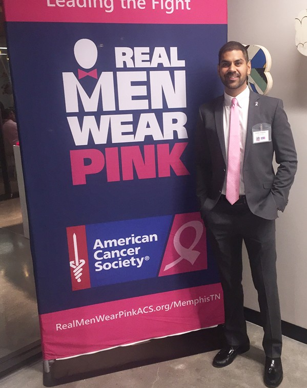 "Carlos Salgado is one of the ""Real Men Wear Pink."" - MICHAEL DONAHUE"