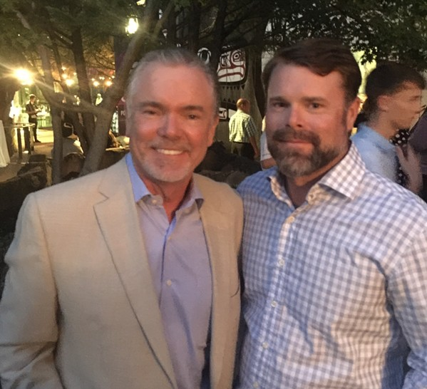 Henry and Steve Hutton at Chuck Hutton's 100th anniversary party at Memphis Zoo. - MICHAEL DONAHUE