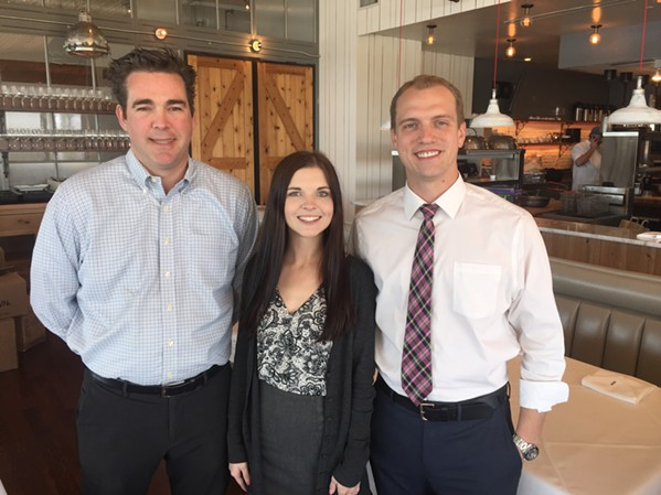 Coastal Fish Company bar manager Drew Wooten, assistant manager Sarah Applebaum, and managing partner Jason Burgardt. - MICHAEL DONAHUE