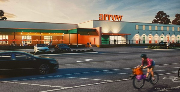 A rendering of the proposed Arrow building in the Broad Avenue Arts District. - PARADIGM MARKETING AND CREATIVE