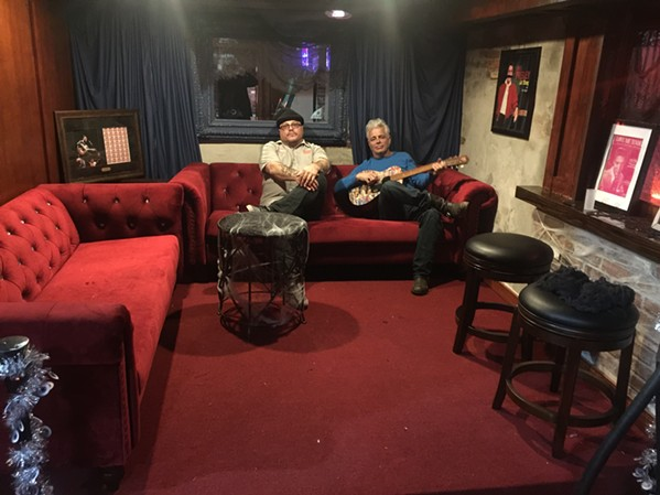 Patrick Trovato and Dale Watson in the VIP area of Hernando's Hide-A-Way. - MICHAEL DONAHUE