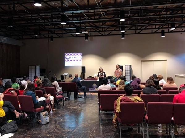 CasaLuz holds a community meeting - FACEBOOK/CASALUZ
