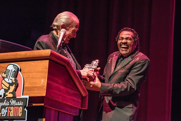 Charlie Musselwhite and Bobby Rush - COURTESY MEMPHIS MUSIC HALL OF FAME