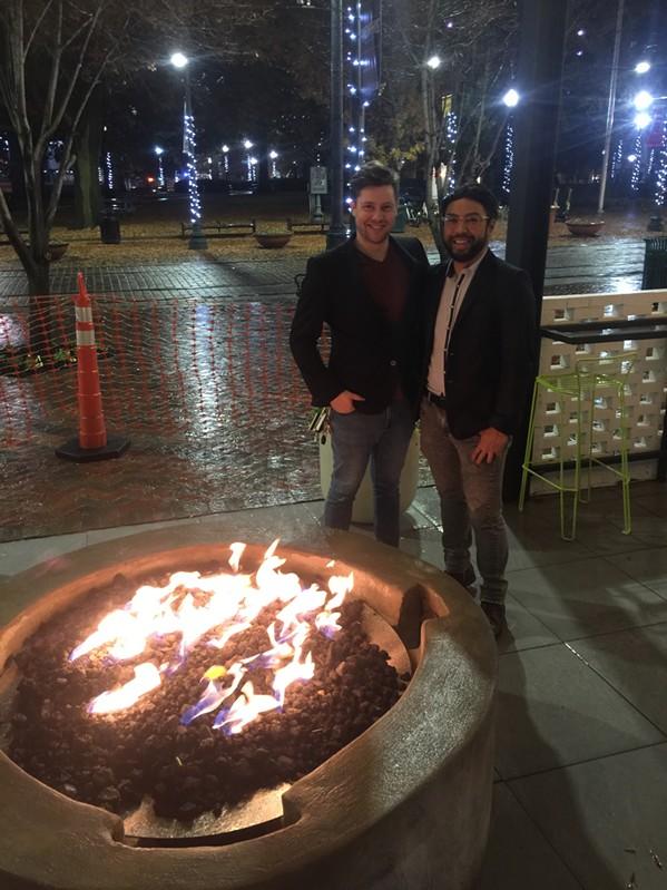 Ryan Marsh and Curtis Pandes at Moxy. - MICHAEL DONAHUE