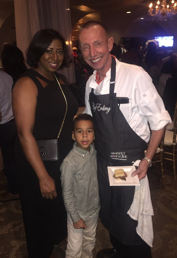 """""""Whiskey, Wine & Dine,"""" which benefited Special Olympics Greater Memphis, was a family affair for participating chef Erling Jensen, chef/owner of Erling Jensen: The Restaurant. His wife, Jaquila, and their son, Blake were at the event, which was held November 8th at Tower   Center in Clark Tower. - MICHAEL DONAHUE"""