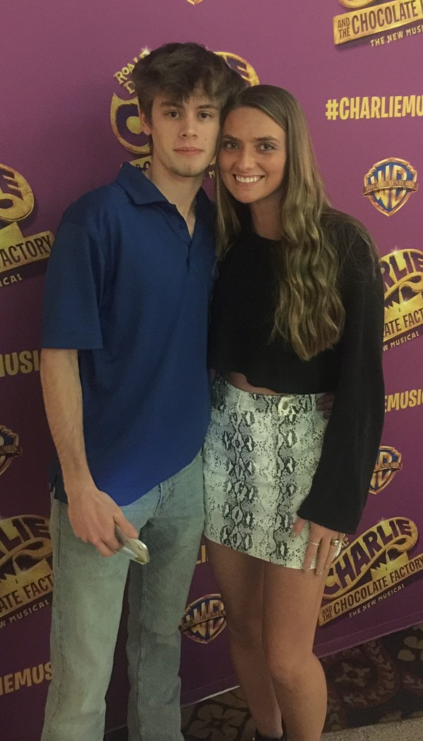 """Mason Gast and Katie Upton were at the """"Charlile and the  Chocolate Factory"""" Memphis premier at The Orpheum. - MICHAEL DONAHUE"""