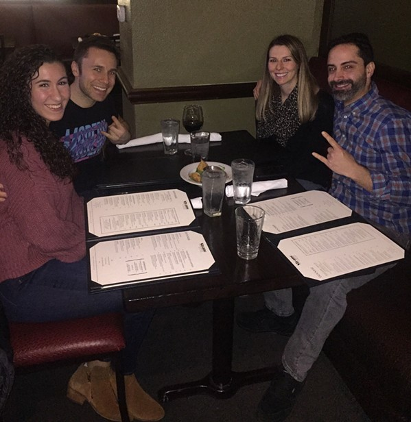 Gina Picerno, Brett Healey, Carson  Irwin, and Tim Guarino at Strano by Chef Josh. - MICHAEL DONAHUE