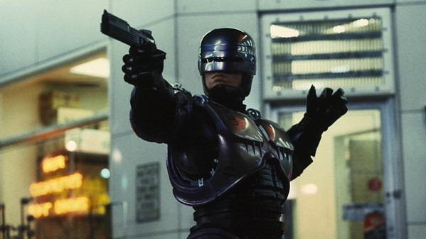 Peter Weller as RoboCop.