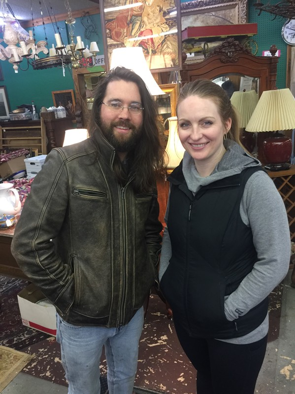 Joshua and Janina Cosby at Antique Warehouse. - MICHAEL DONAHUE