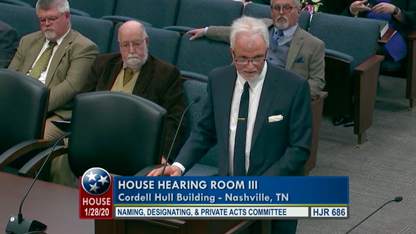 Sons of Confederate Veterans state commander testifies to the House committee.