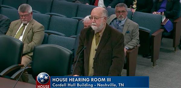 Michael Bradley testifies to the House committee.