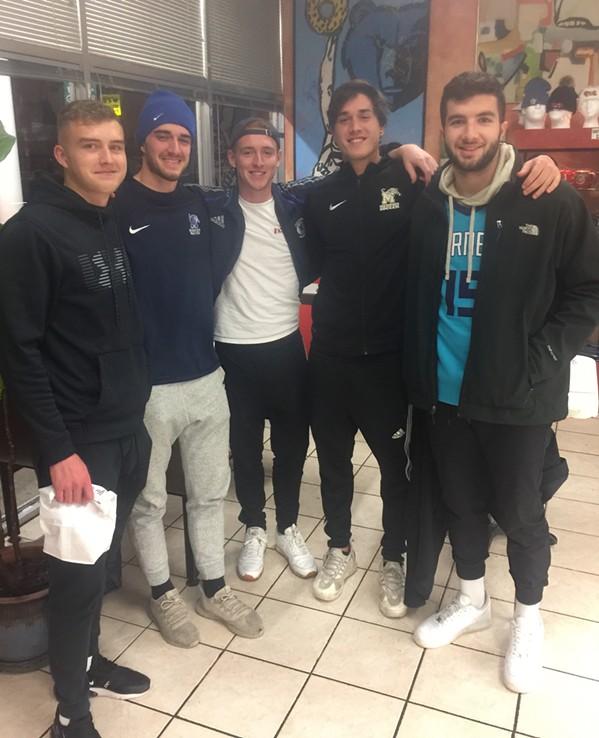 University of Memphis soccer team members at Gibson's Donuts. - MICIHAEL DONAHUE
