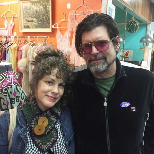 Amy LaVere and Will Sexton at Antique Warehouse. - MICHAEL DONAHUE