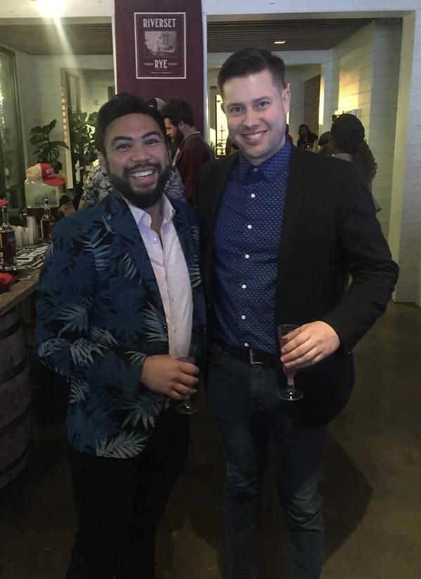 Curtis Pandas and Ryan Marsh at Moxy. - MICHAEL DONAHUE