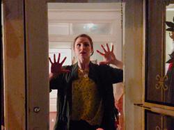 "Virginia Pilgrim Ramey — a dancer in quarantine — from Brandon Ramey's video, ""Stay Inside"""