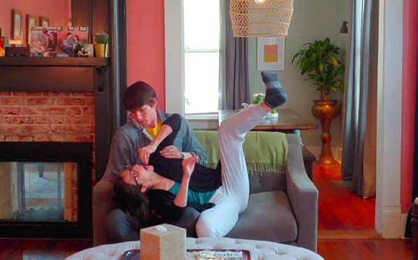 "Brandon and Virginia Pilgrim Ramey in their new quarantine video, ""Couch Potatoes."""