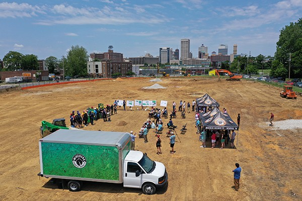The 2019 groundbreaking ceremony for Wiseacre's new brewery and taproom Downtown. - BRANDON HERRINGTON