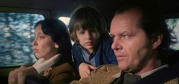 Shelley Duvall, Danny Lloyd, and Jack Nicholson