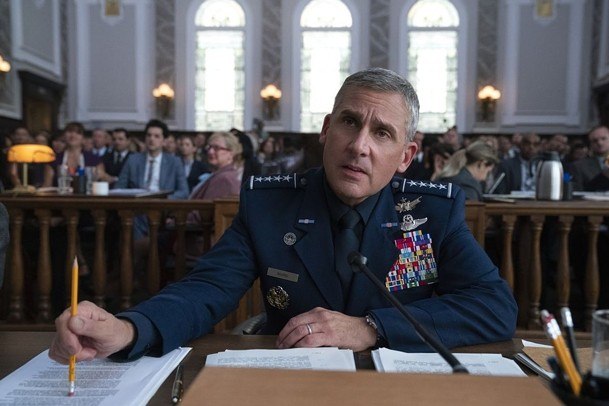 Steve Carell as General Mark Naird in Space Force,