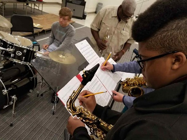 MJW instructor Johnny Yancey leads a student ensemble, pre-COVID-19. - STEPHEN LEE