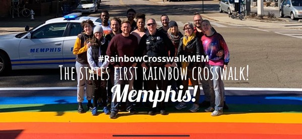 MEMPHIS' RAINBOW CROSSWALK/FACEBOOK