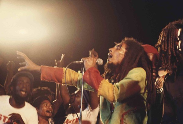 Bob Marley plays the December 1976 Smile Jamaica concert in the documentary Marley.