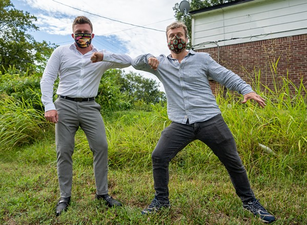 Jerred Price and Taylor Berger join forces to fight blight in downtown and uptown Memphis. - MILES KOVARIK