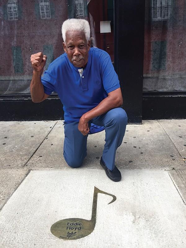 Eddie Floyd was recognized on the Beale Street Brass Note Walk of Fame in 2016. - COURTESY OF EDDIE FLOYD