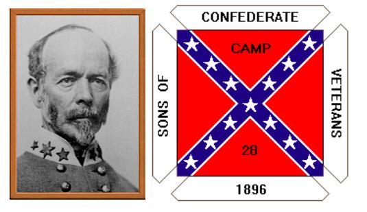 JOE JOHNSTON CAMP 28, SONS OF CONFEDERATE VETERANS (JOHNSTON, LEFT)