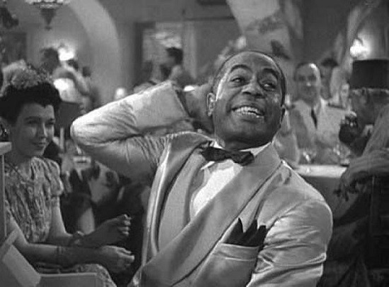 Dooley Wilson as Sam, the piano player at Rick's Cafe Americain.