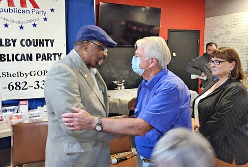 DeBerry with Republican well-wishers - CONNIE MCCARTER