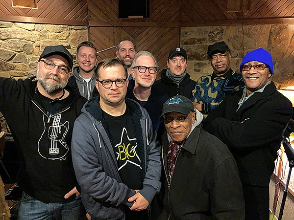 (left to right) Craig Brewer, - Trygge Toven, Marc Franklin, Kevin Houston, Scott Bomar, - Joe Restivo, Willie Hall, Lester Snell, and Michael Tolesore - BILLY FOX