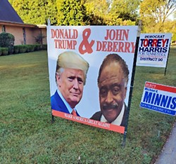 The yard sign.