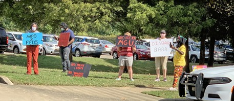 Protesters at the event