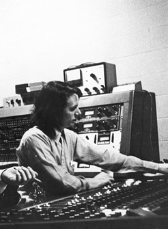 Terry Manning at the Ardent mixing board, 1971 - COURTESY TERRY MANNING