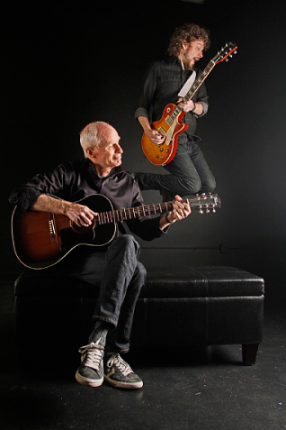 The late Sid Selvidge, with son, Steve - JUSTIN FOX BURKS