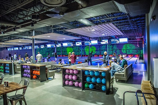 The new entertainment facility will feature bowling, golf, video games, and more. - HIGH 5