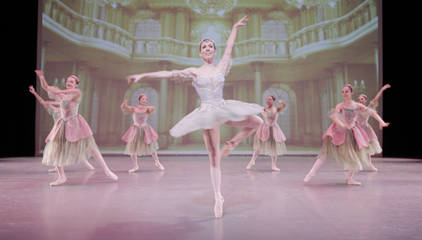 Cecily Khuner as the Dew Drop Fairy in Ballet Memphis' Nutcracker