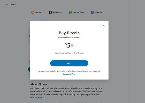 Buying is as simple as a few button clicks.