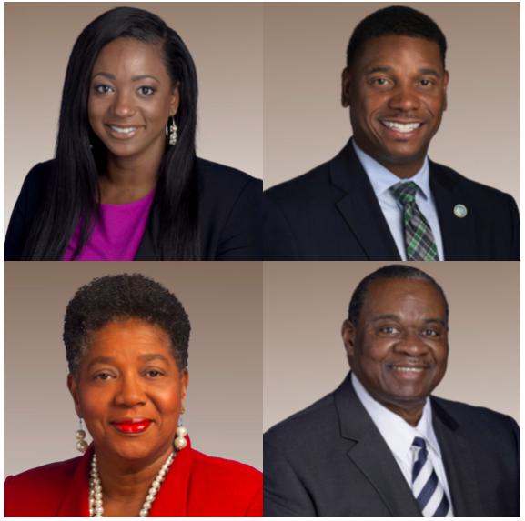 Clockwise from top left Rep. London Lamar, Rep. Vincent Dixie, Senator Brenda Gilmore, and Rep. Yusuf Hakeem. - TENNESSEE GENERAL ASSEMBLY