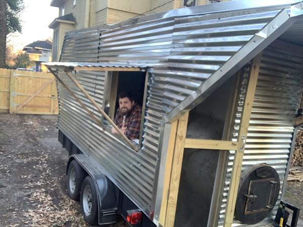 Bryant Bain in his Bain BBQ food truck