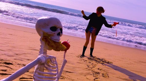 Oh nothing, just hanging on the beach with my skeleton friend. We're not dating.